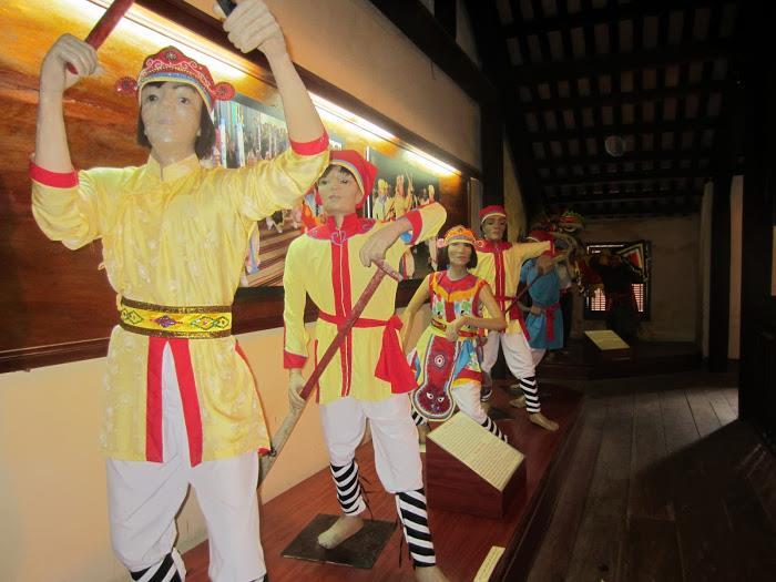 Folk oratorio art inside Hoi An Museum of Folklore