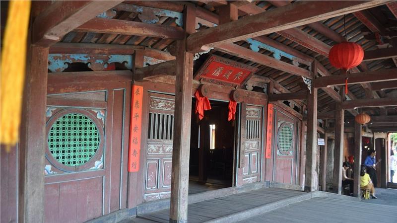 Inside Japanese Covered Bridge