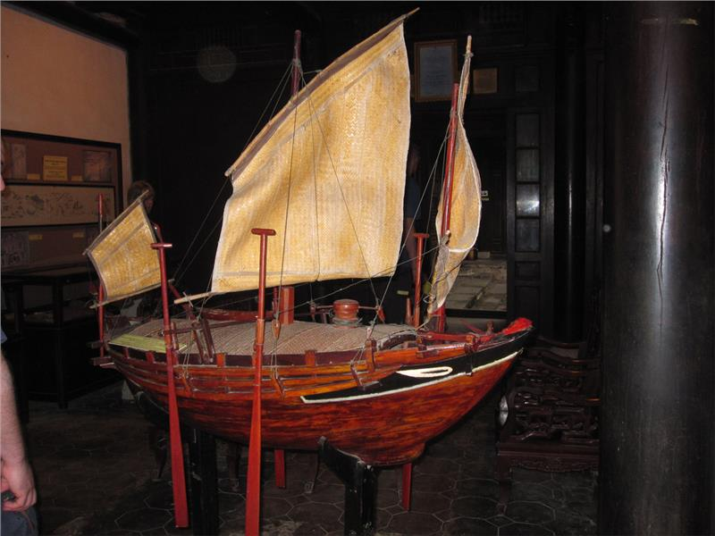 Boat in Museum of Trading Ceramics