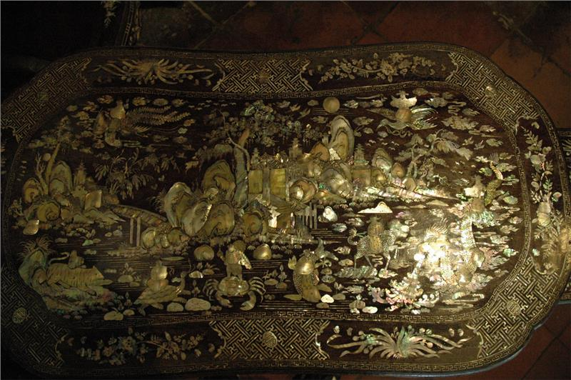 Ancient Mosaic in Tan Ky Old House