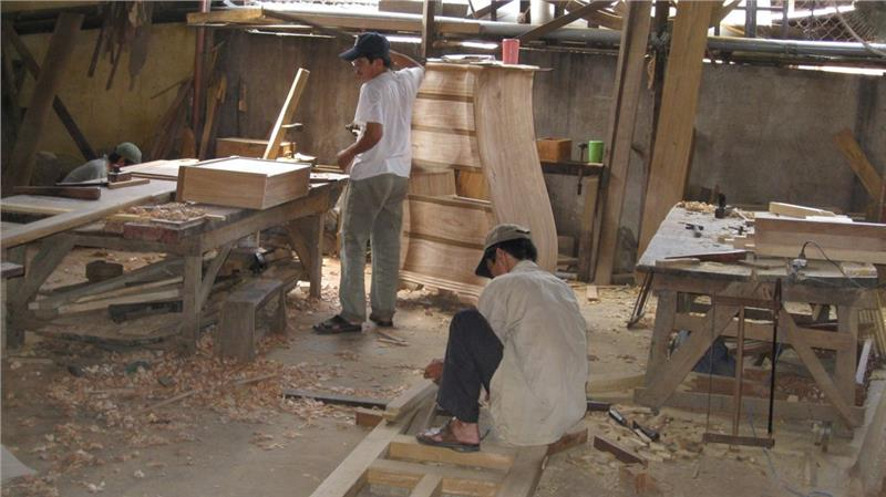 Inside Kim Bong Carpentry Village