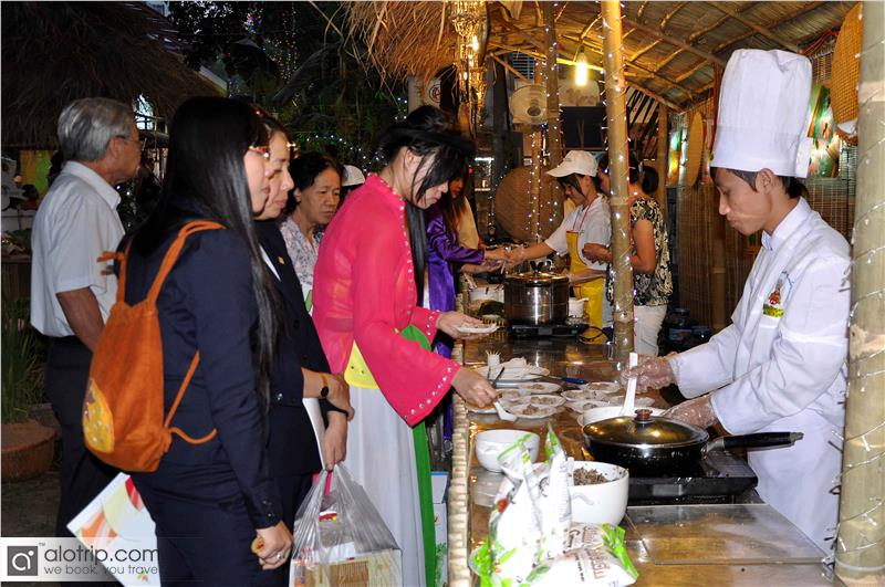 Tourists in Hue International Food Festival