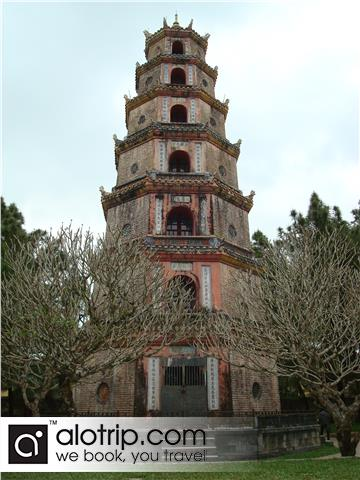 a tower in Thien Mu  pagoda