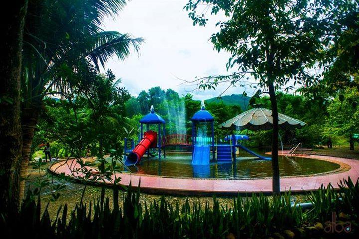 Multifunctional lake at Alba Thanh Tan Hot Springs