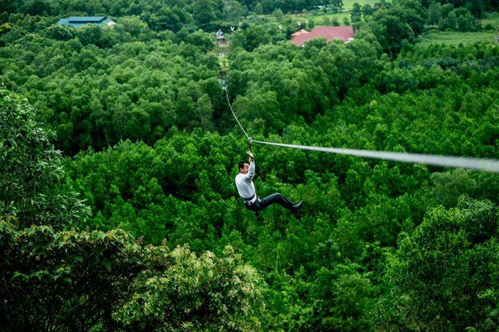 Zipline at Alba Thanh Tan Hot Springs