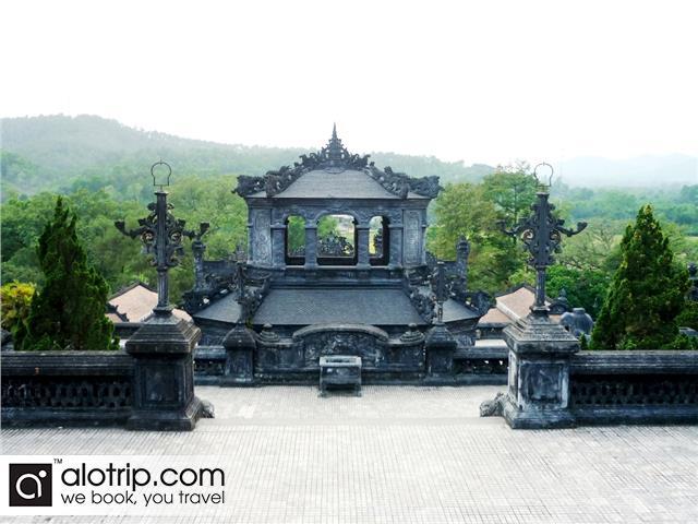 Behind Emperor Khai Dinh tomb