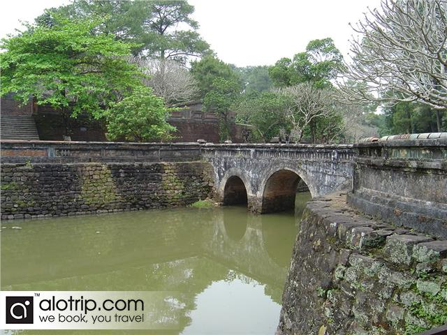 a corner of emperor Tu Duc tomb