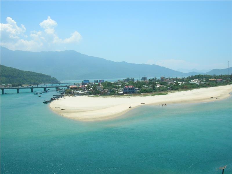 Beautiful Lang Co Beach in summer