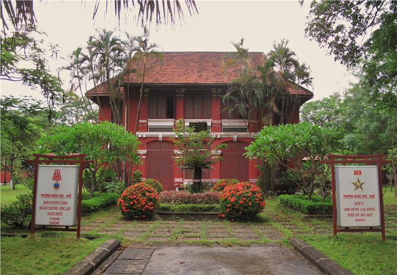 Quoc Hoc High School in Hue