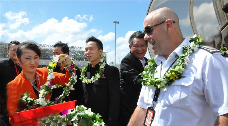 Chuyến bay đầu tiên của Jetstar Pacific từ Thanh Hóa tới Buôn Ma Thuột