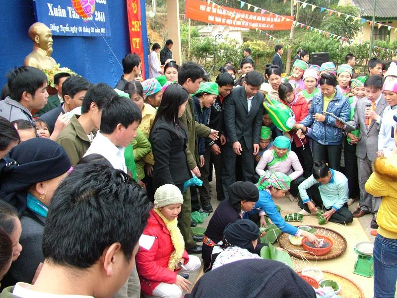 A festival of local people in Lao Cai