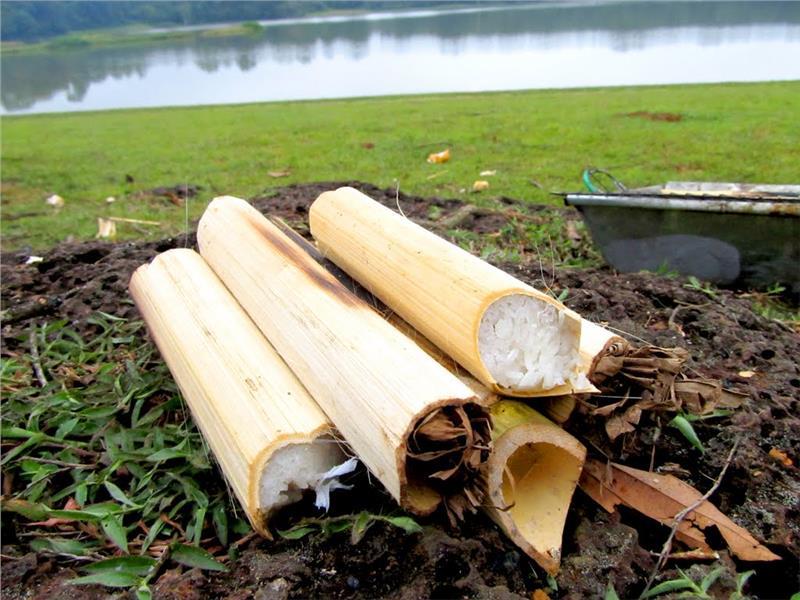 Bamboo tube rice