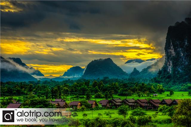 Vangvieng Sunset