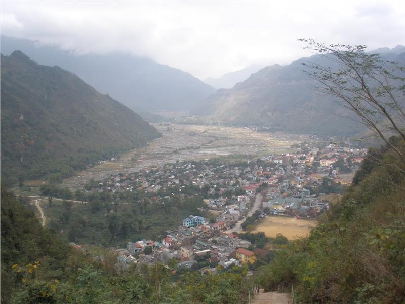Mai Chau view from Chieu Cave