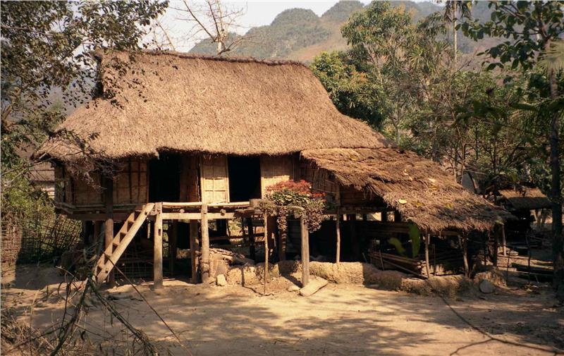 House with bamboo walls in Mai Chau