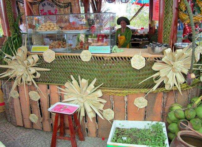 A stall of coconut food