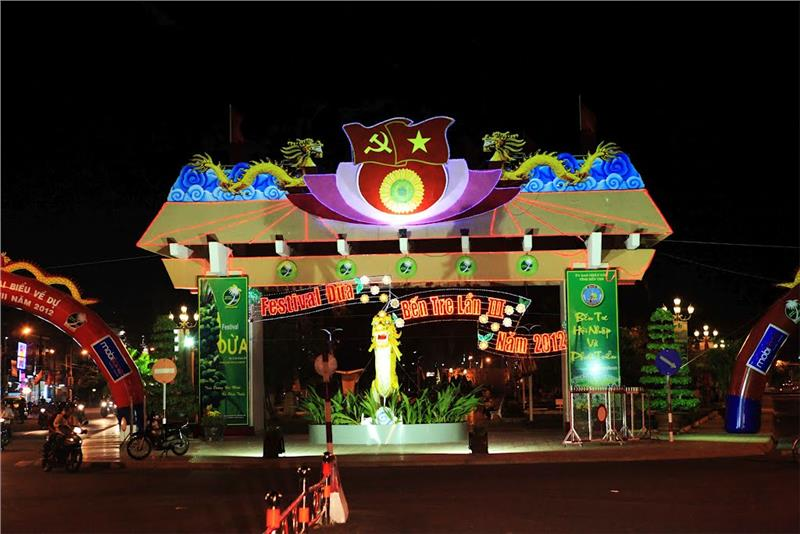 Gate to Ben Tre Coconut Festival
