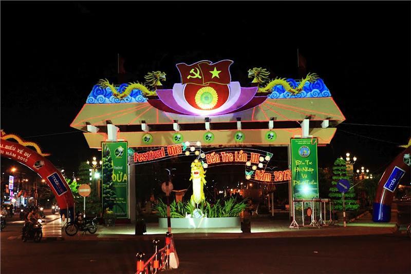 Gate to Ben Tre Coconut Festival