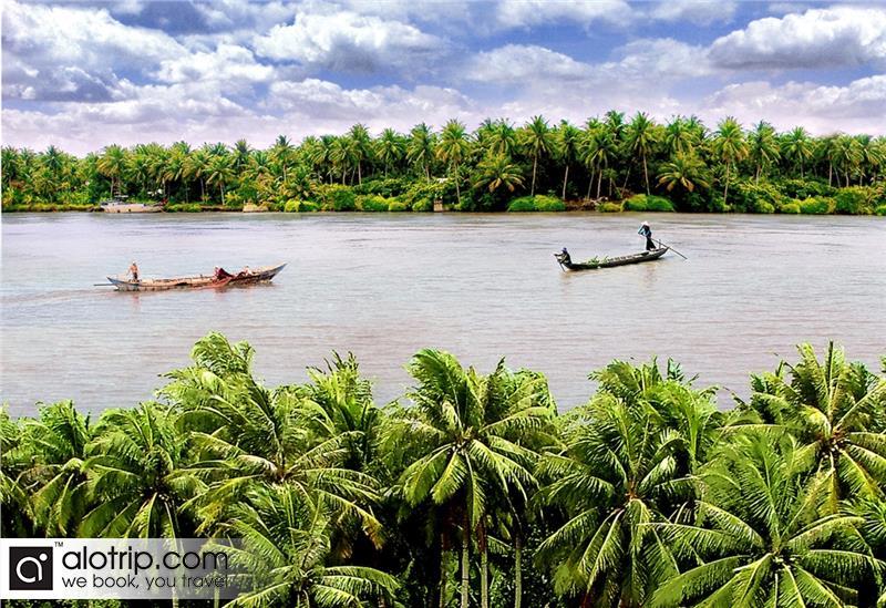 a beautiful River in Ben Tre City