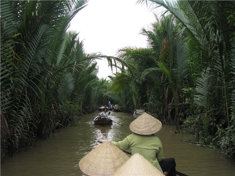 Con Phung Island in Mekong Delta