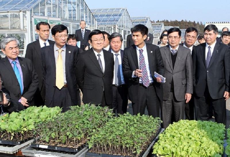 Mr. Truong Tan Sang in Ibaraki prefecture
