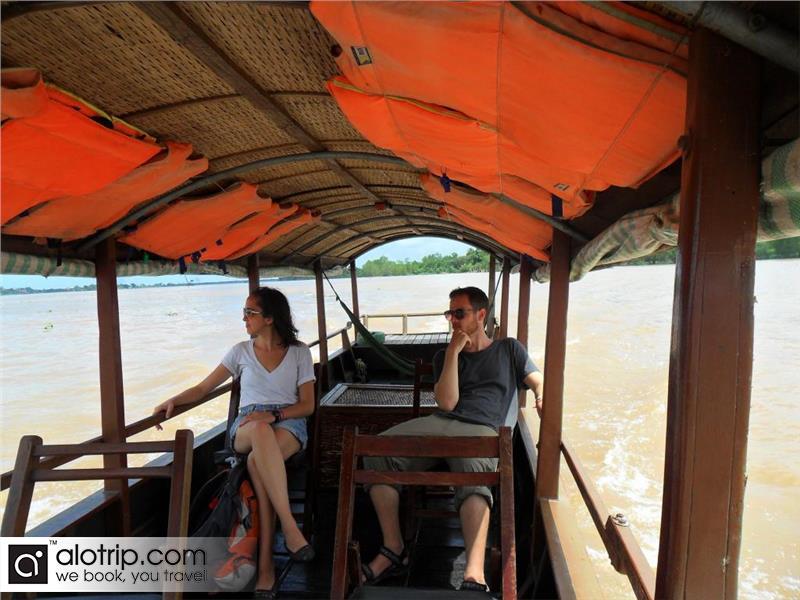 Boat in Tan Phong Island