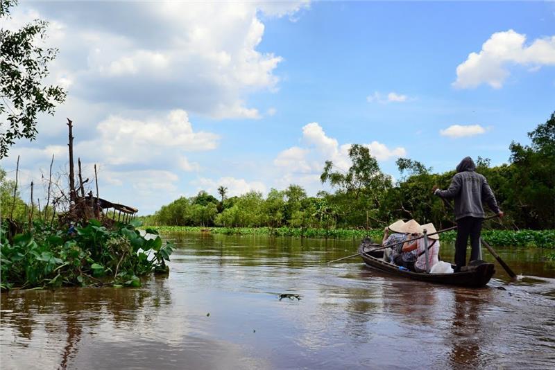 Charming waterway on Tan Phong Island