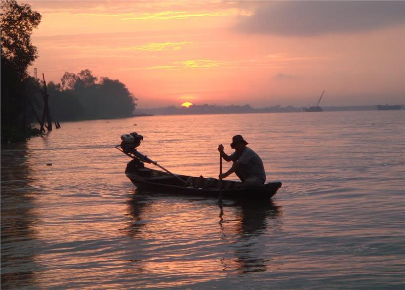 Sunset on Tan Phong Island