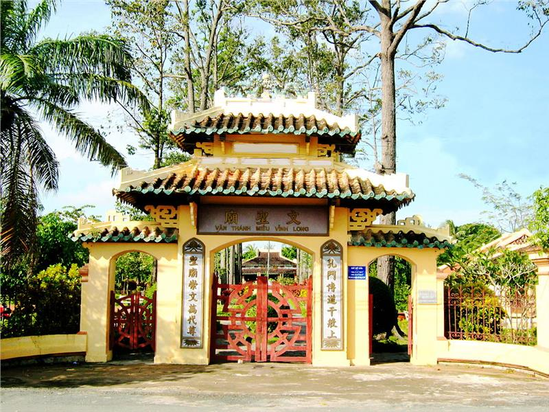 Temple of litarature in Vinh Long