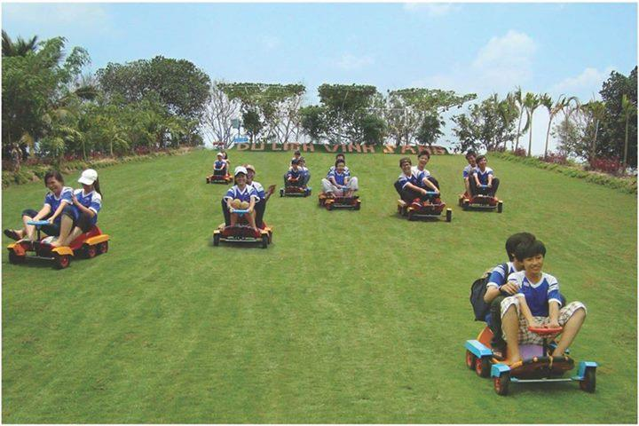 Vinh Sang tourist area - Grass sled riding