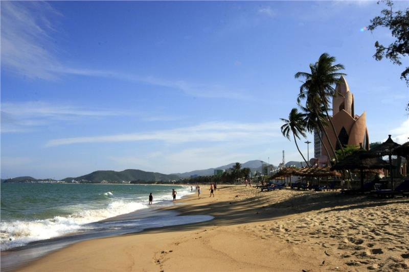 A scenery of Nha Trang beach