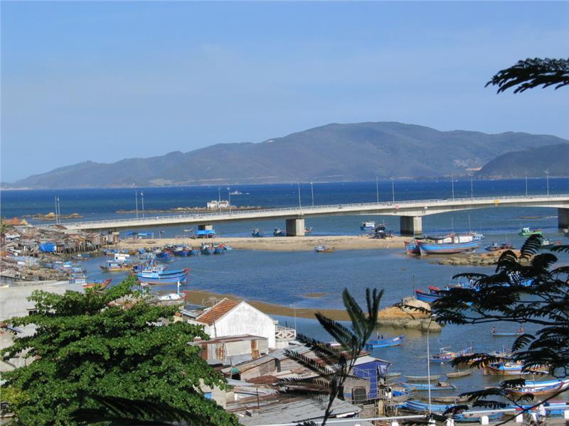 Tran Phu Bridge in Nha Trang City