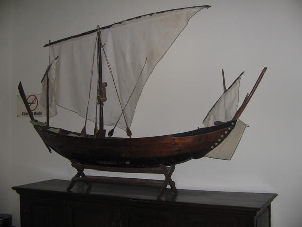 Boat model at Alexandre Yersin Museum