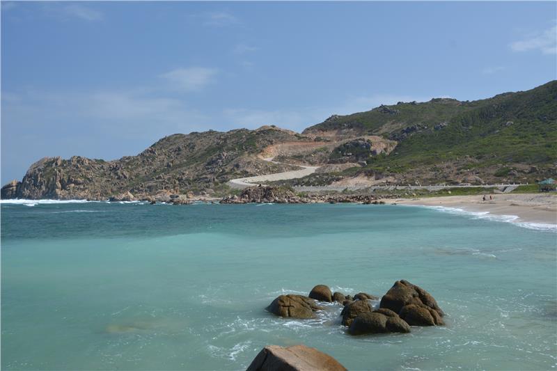 Beach in Binh Ba Island