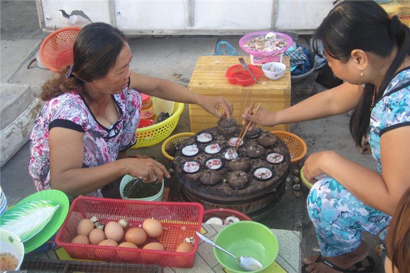 Local food in Binh Ba