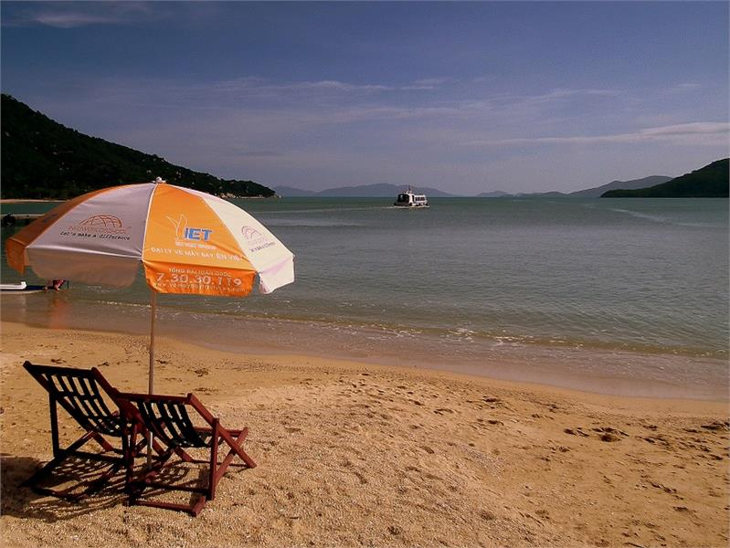Tranquil scenery in Monkey Island Nha Trang