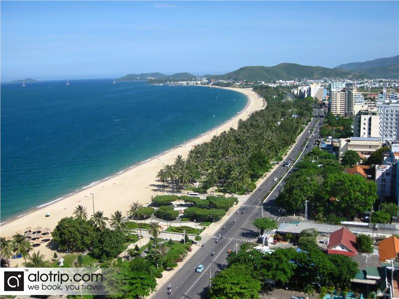 beautiful beachside of Nha Trang city