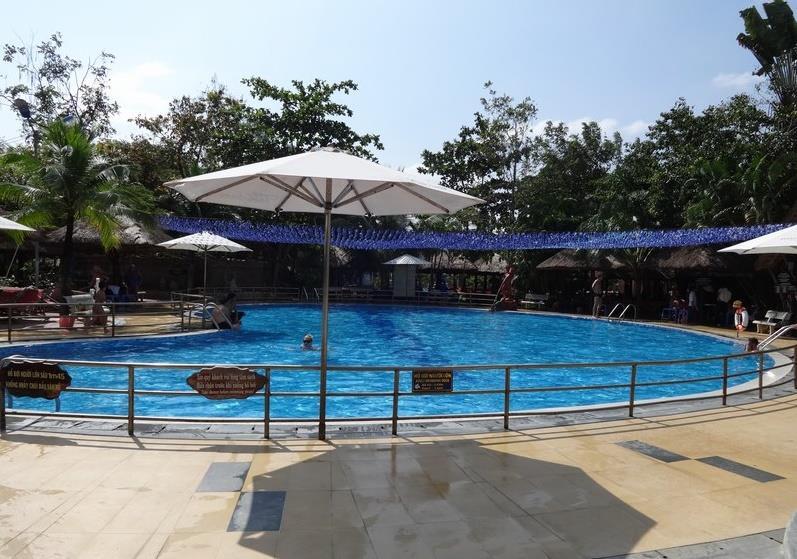 Swimming pool at Thap Ba Hot Springs