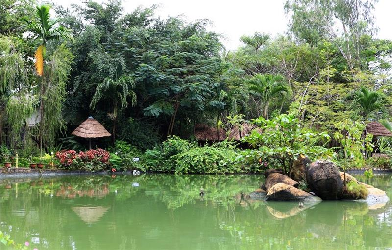 Tranquil scenery in Thap Ba Hot Springs
