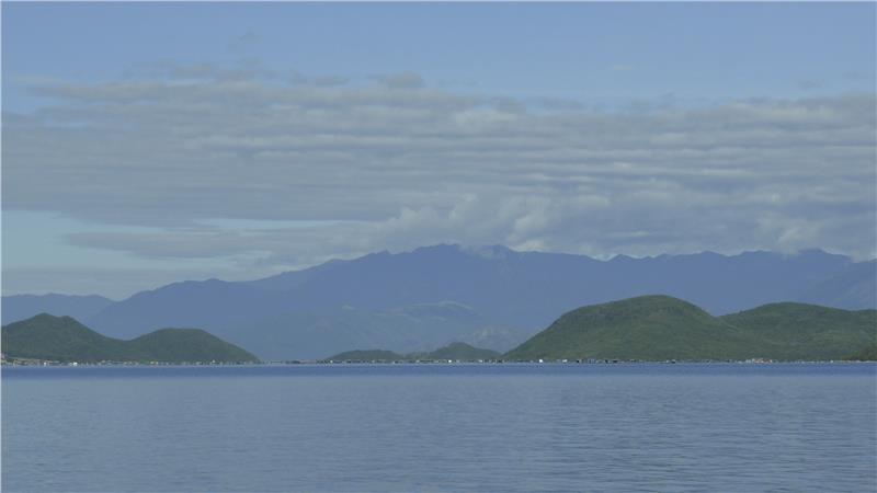 Panoramic view of Whale Island