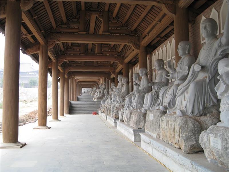 Arhat corridors at Bai Dinh Pagoda