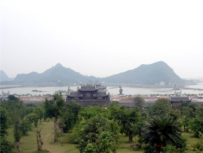 View from Bai Dinh Pagoda