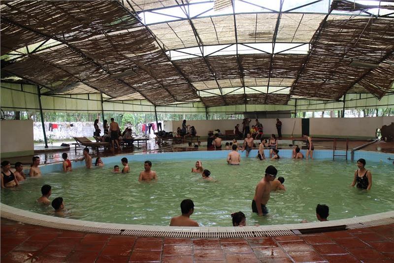 Inside Kenh Ga Hot Springs