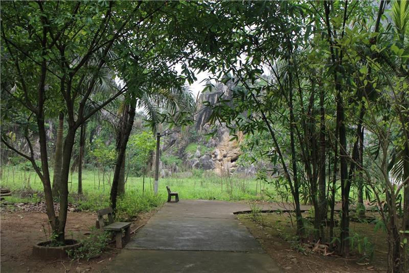 Tranquil scenery at Kenh Ga Hot Springs