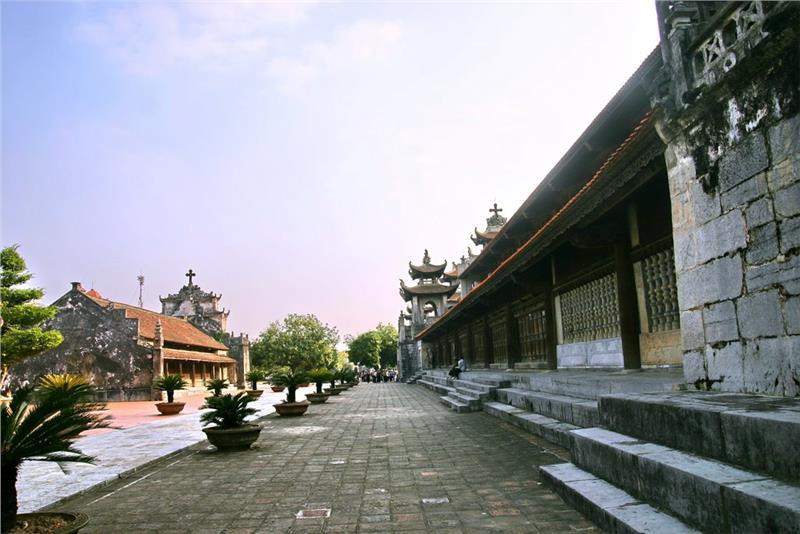 The Church Yard at Phat Diem Cathedral