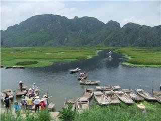 Van Long natural reserve in Northern Vietnam