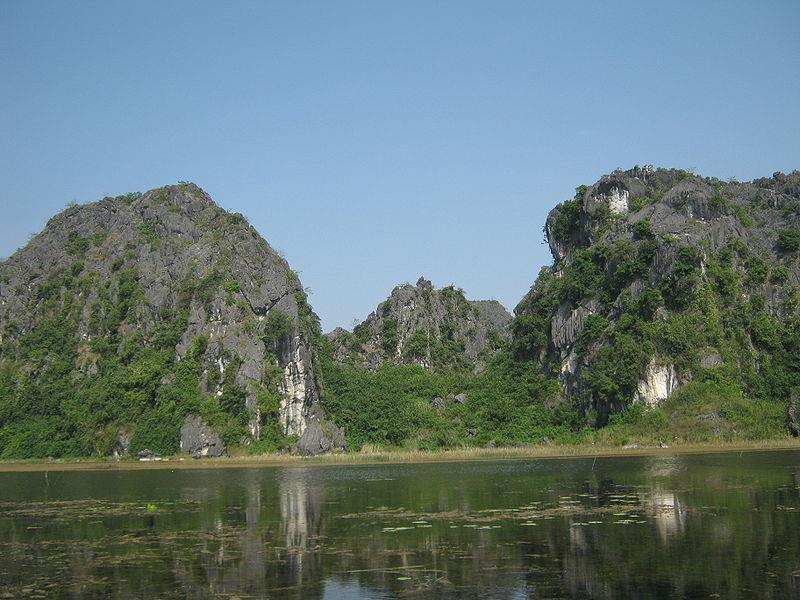 Tranquil scenery in Van Long Nature Reserve
