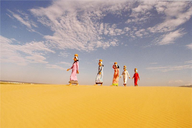 Cham ladies at Nam Cuong Sand Dunes