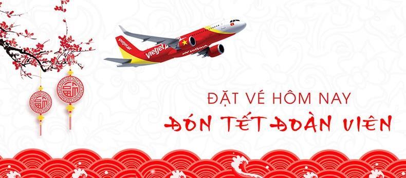 Đặt vé máy bay Tết 2020 Vietjet