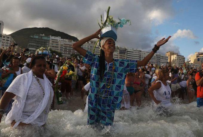 Đón năm mới ở Brazil